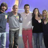 Santi Millán, Jordi Rebellón, Jesús Vázquez, Lorena Berdún y Milene Domingues