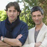 Antonio Garrido y Ernesto Alterio en la presentación de 'La chica de ayer'