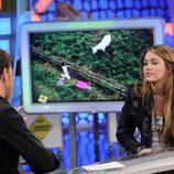 La actriz Miley Cyrus visita 'El hormiguero'