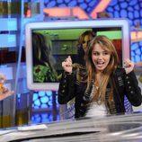 La actriz Miley Cyrus en 'El hormiguero'