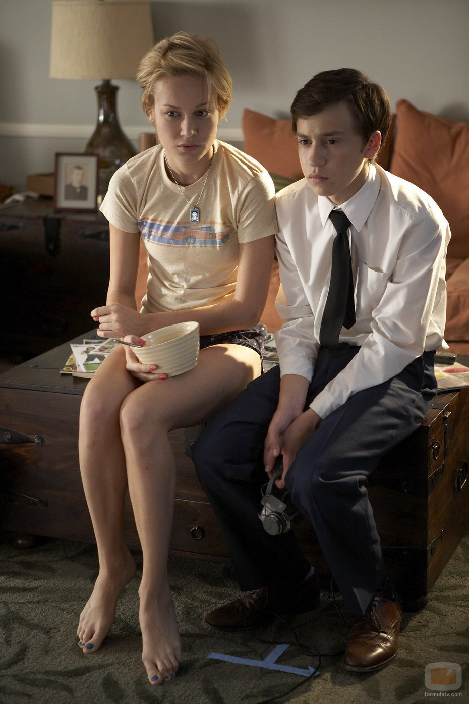 Brie Larson y Keir Gilchrist