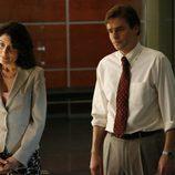 Robert Sean Leonard y Lisa Edelstein en 'House'