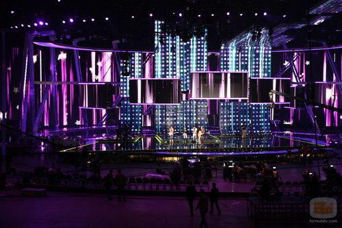 Escenario de Eurovisión 2009 en el Olympiyski Indoor Arena de Moscú