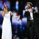 Kamil Mikulcík y Nela, de Eslovaquia en la Semifinal Festival de Eurovisión