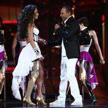 AySel y Arash, de Azerbaiján cantando en la semifinal