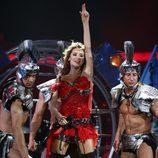 Svetlana Loboda al final de su actuación en la semifinal de Eurovisión 2009