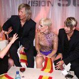 """Soraya en la """"Green Room"""" durante Eurovisión 09"""