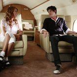 Viaje en avión en '90210'