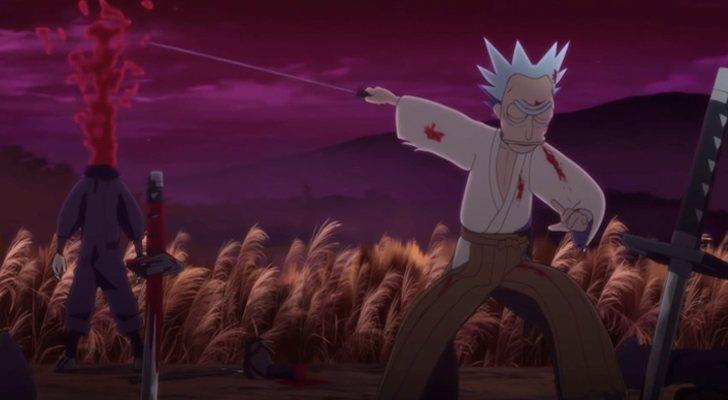 Rick con una katana en 'Samurai & Shougun (Rick y Morty)'