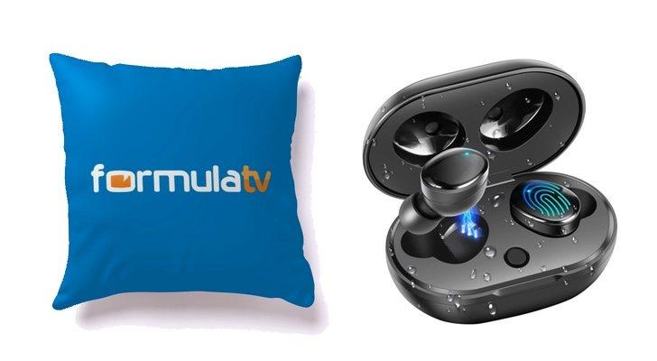 Coussin FormulaTV et écouteurs sans fil