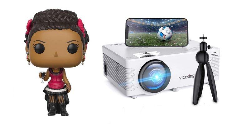 Meave Funko et mini projecteur