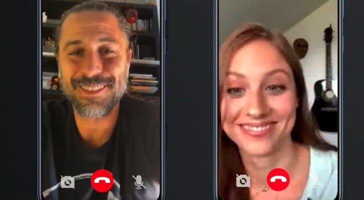 Appel vidéo entre Hugo Silva et Michelle Jenner
