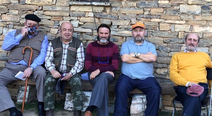 Une partie du casting de «La que se avecina» et «El pueblo» ensemble