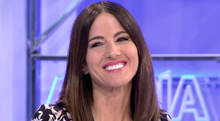 Mónica Sanz sur le tournage de 'Cuatro al día'