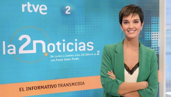 Paula Sainz-Pardo, présentatrice de «La 2 Noticias»