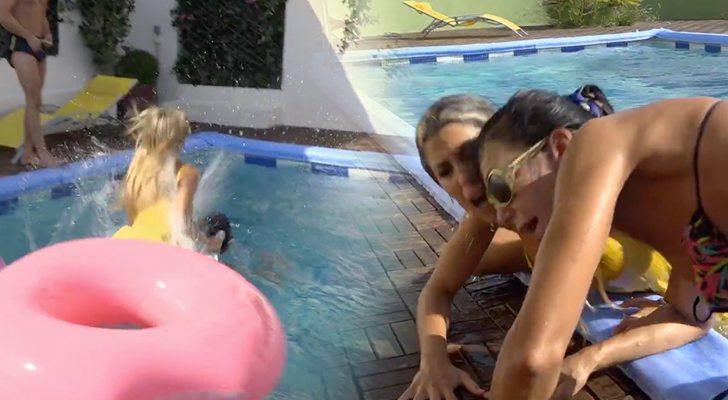 Oriana saute sur Maite dans 'La casa fuerte'