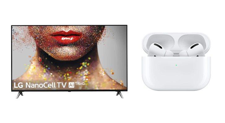 LG TV et AirPods Pro