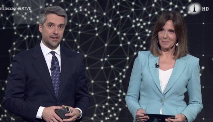 Carlos Franganillo et Ana Blanco, couple sur TVE