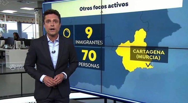 Javier Gallego sur les graphiques de 'Antena 3 noticias'