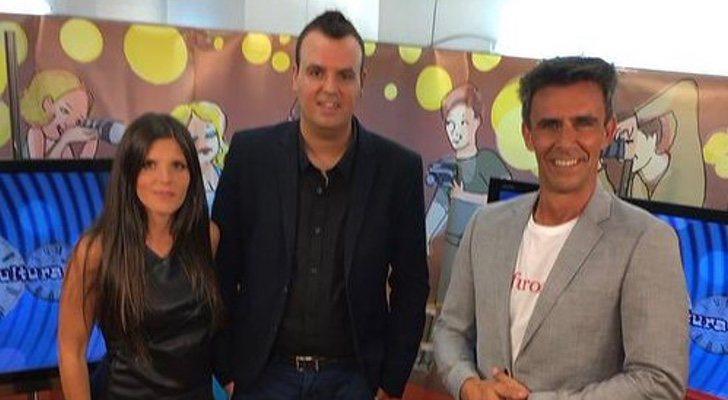 Alonso Caparrós, avec l'équipe du Trône des sensations