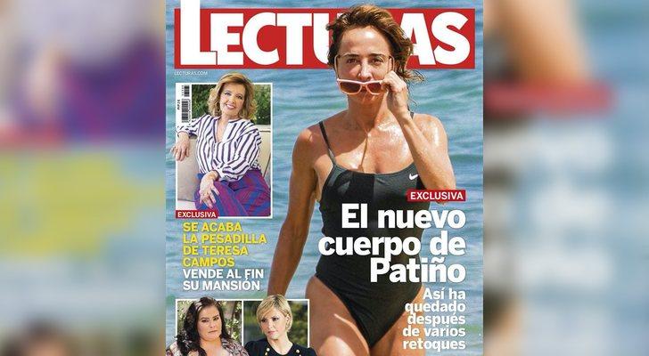Couverture du magazine Lecturas avec María Patiño