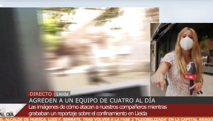 Rocío Cano, victime de l'attaque de l'équipe de «Cuatro al día»