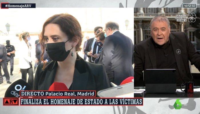 Ferreras critique Díaz Ayuso dans 'Al rojo vivo'