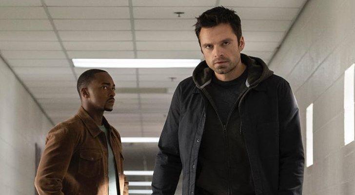 Anthony Mackie et Sebastian Stan dans «Le faucon et le soldat d'hiver»