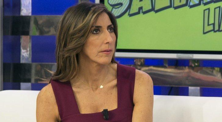Paz Padilla sur le tournage de 'Sálvame'