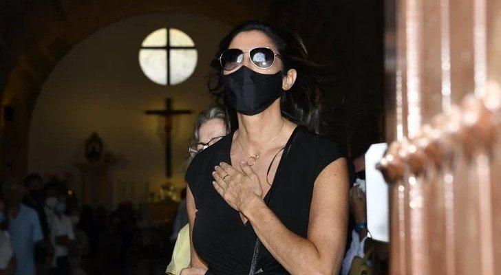 Paz Padilla aux funérailles d'Antonio Juan Vidal