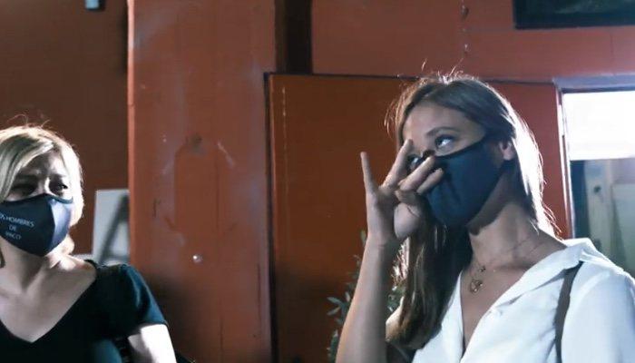 Michelle Jenner, excitée à la réunion de 'Los hombres de Paco'