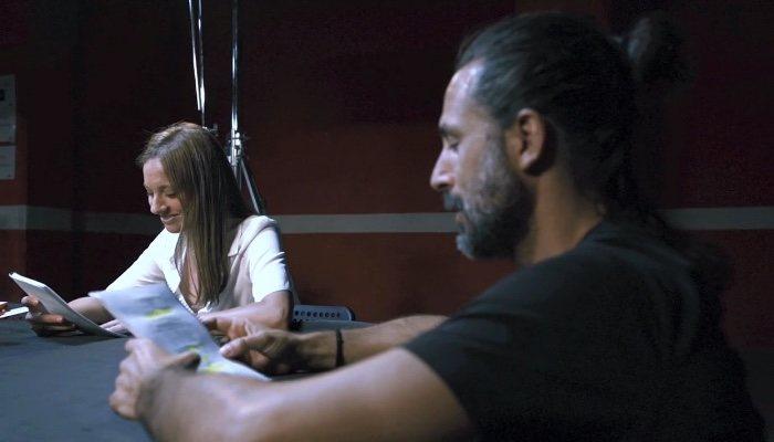 Michelle Jenner et Hugo Silva, dans la lecture du scénario