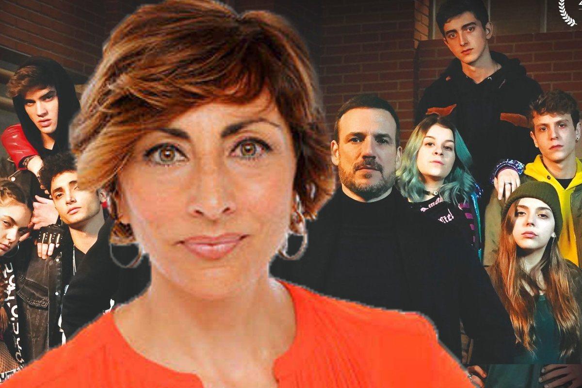 Mamen Asencio et les protagonistes de 'HIT'