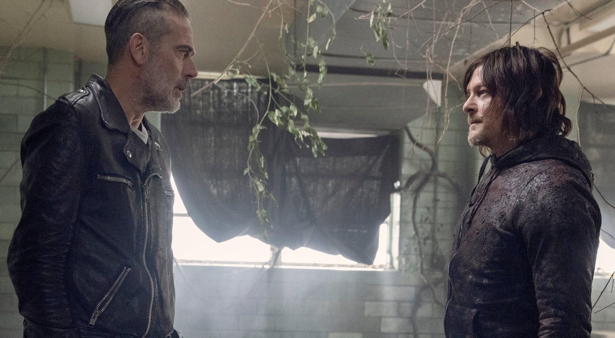 Negan et Daryl dans le dernier épisode de la saison 10 de 'The Walking Dead'