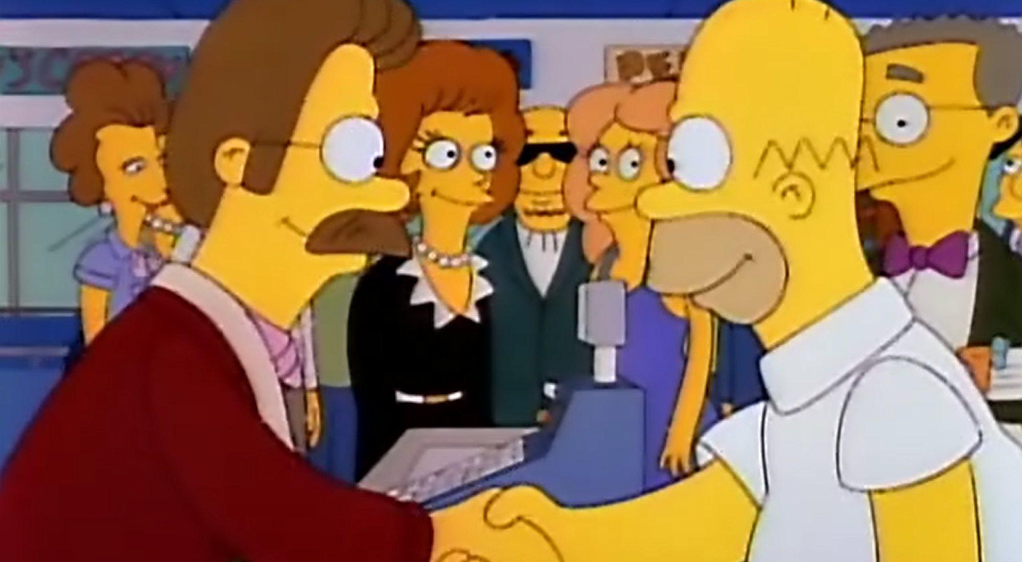 Flanders et Homer se réconcilient en 3x03 de 'The Simpsons'