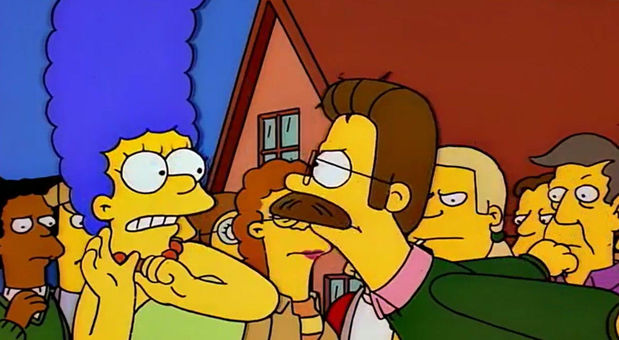 La Flandre explose contre ses voisins en 8 × 08 de `` Les Simpsons ''