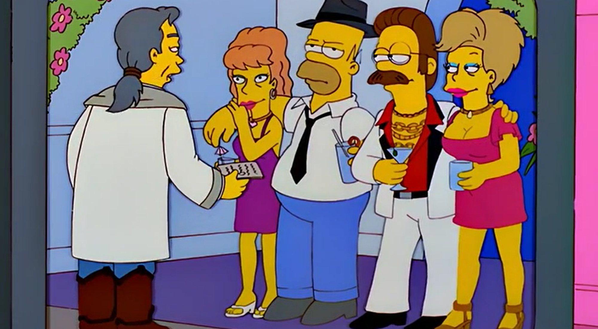 Homer et Flanders se marient à Las Vegas dans l'épisode 10x10 de 'The Simpsons'