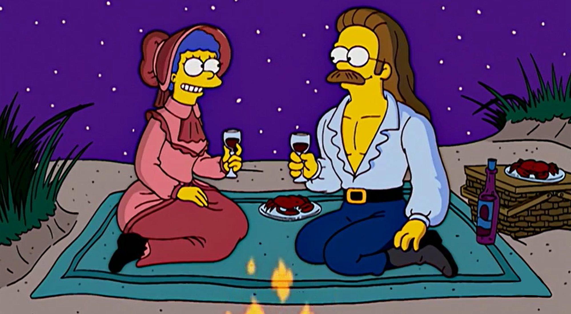 Marge fantasme sur Ned Flanders dans l'épisode 15x10 de 'The Simpsons'
