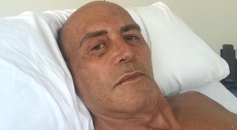 Kiko Matamoros à l'hôpital où il est admis