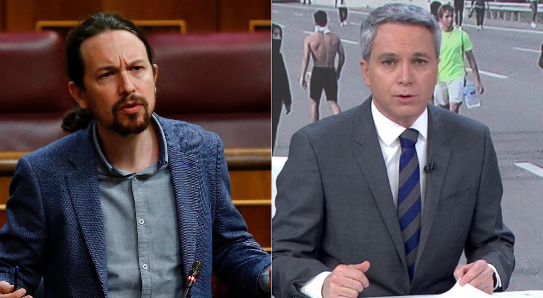 Pablo Iglesias et Vicente Vallés