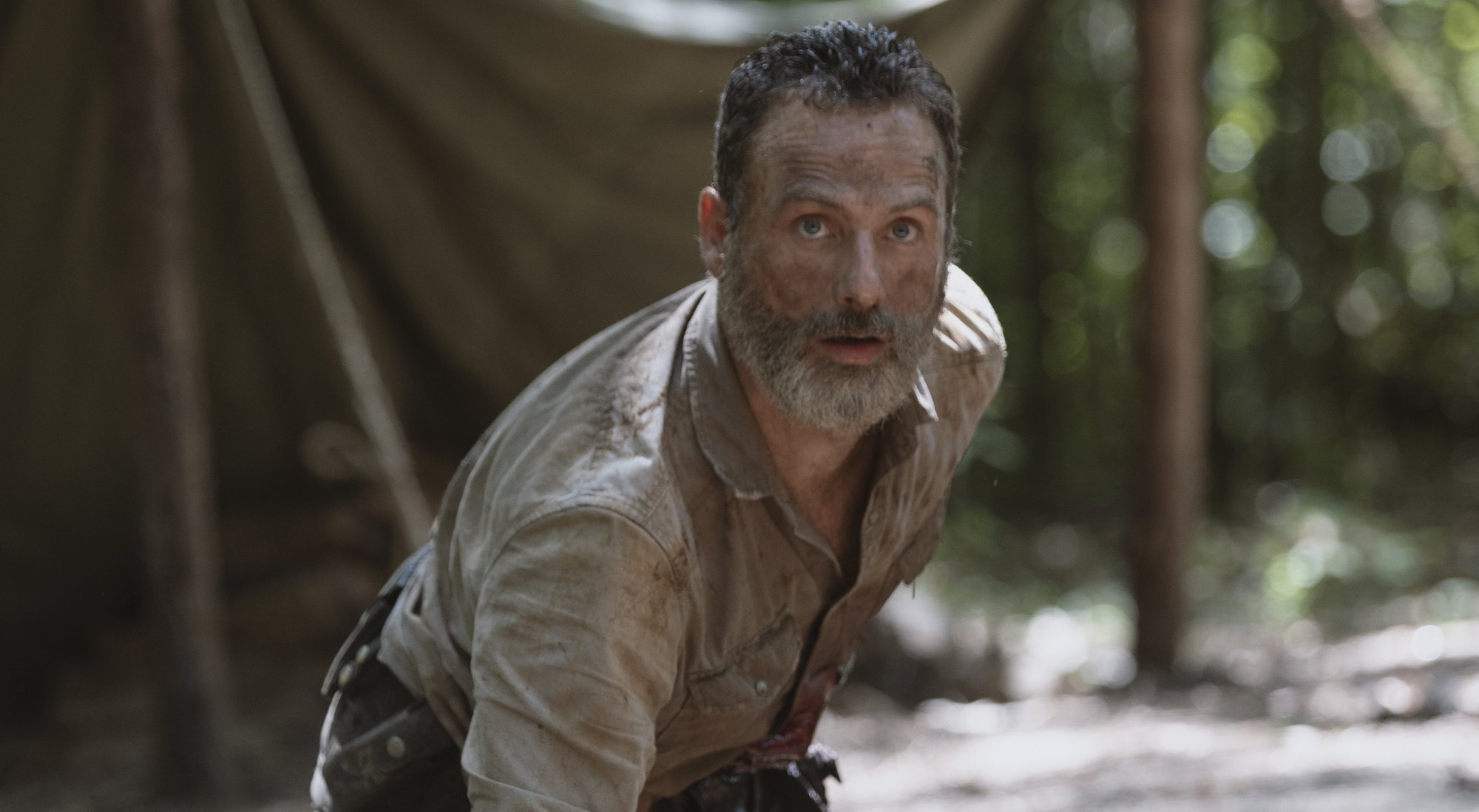 Andrew Lincoln comme Rick Grimes dans `` The Walking Dead ''
