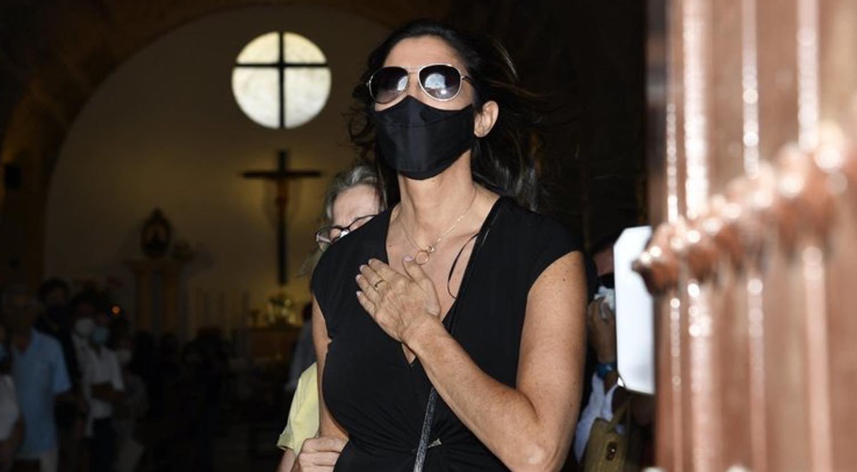 Paz Padilla aux funérailles d'Antonio Vidal