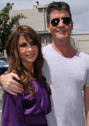 Paula Abdul y Simon Cowell en The X Factor EEUU