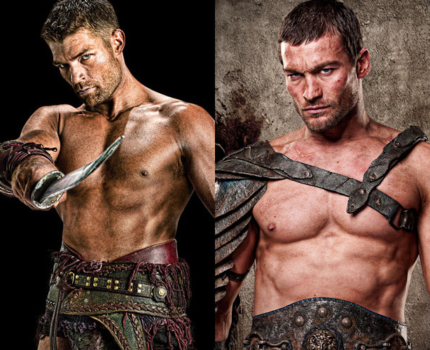 Liam McIntyre y Andy Whitfield son Spartacus