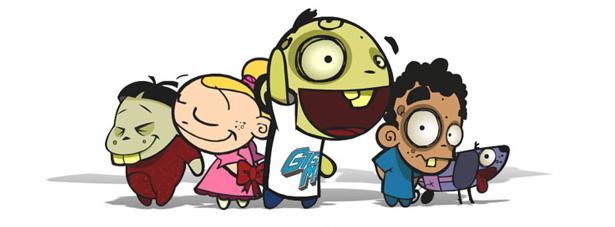 Jonás, rodeado de sus amigos Said, Katy, Huan y Titán