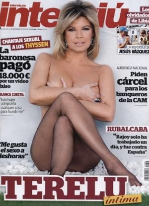 Terelu Campos posa sugerente en Interviú