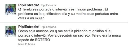 Pipi Estrada, mordaz en twitter acerca del posado