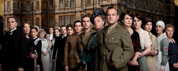 Cartel promocional de la segunda temporada de 'Downton Abbey'