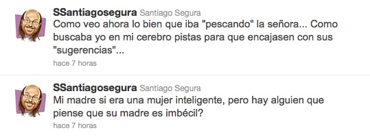 Santiago Segura, escéptico en Twitter