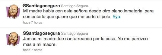 Santiago Segura, comentando su aparición en Twitter